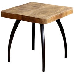 Spider Coffee Table by J. Halabala, Model H259 in Walnut, Mid-Century Modern