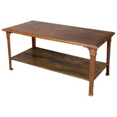 Rustic Late 19th Century French Library, Work or Dining Table
