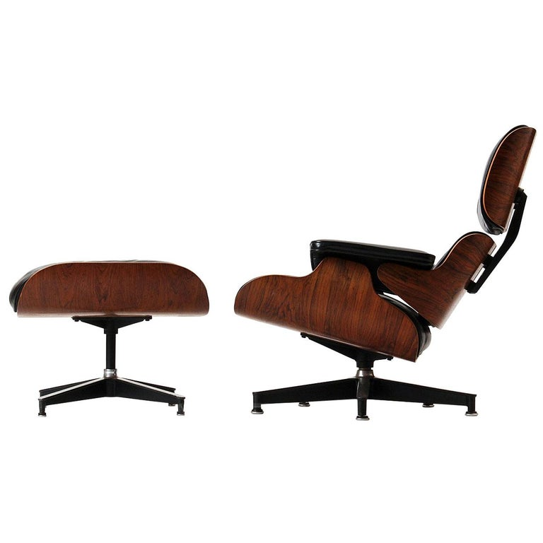 Charles and Ray Eames lounge chair and ottoman, 1960s, offered by WYETH