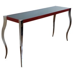 Forged Stainless and Painted Steel Console by Curtis Norton