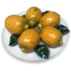 Italian Majolica Lemon Plate