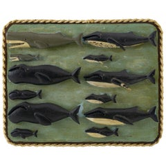Carved and Painted Whale Board