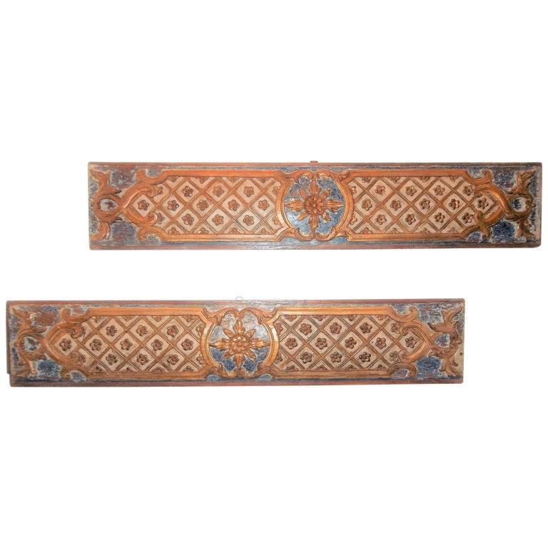 Pair Louis XVI Style Overdoor or Supraporta Bosierie Fragments For Sale