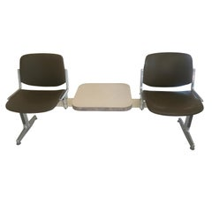1970s Piretti for Castelli Anonima Airport Bench Seat in Olive Green