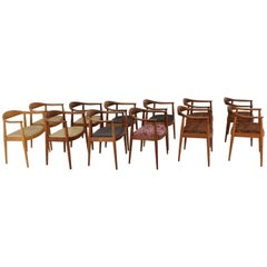 Hans Wegner Round Chairs 8 Available