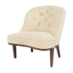 Tufted Slipper Chair by Edward Wormley for Dunbar