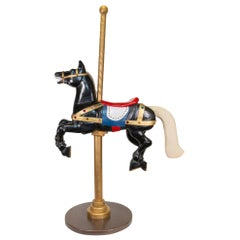 Jeweled and Carved Large Carousel Horse