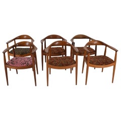"Set of Six Hans Wegner ""The Round"" Chairs by Johannes Hansen"