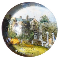 Victorian Glass Paperweight, Lea Hirst, Home of Florence Nightingale, circa 1880