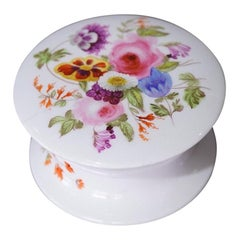 Coalport Cosmetics Box, Flowers, circa 1835