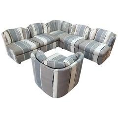 Vintage 1980s Modular Sofa by Henredon with Original Fabric