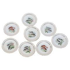Set of Twelve Digoin and Sarreguemines Fish Plates
