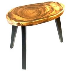 1960s Midcentury American Freeform Solid Koa Wood Small Coffee Table