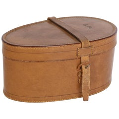 Antique Gentleman's Leather Collar Box