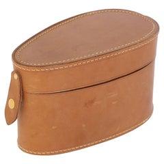 Antique Gentleman's Leather Collar Box