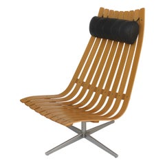 2010s Hans Battrud Senior Bentwood Swivel Chair, Norway