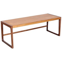 G Plan Midcentury Teak and Afromosia Sleigh Leg Coffee Table