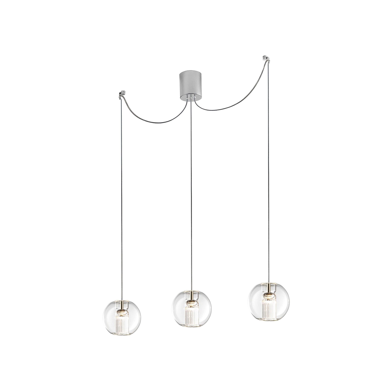Leucos Fairy S S-D3 LED Multipoint Pendant Light in Transparent & Chrome