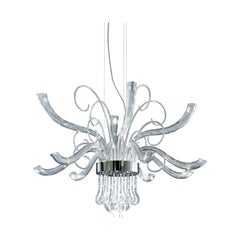 Leucos Cubi P-PL 16 LED Flush Mount in Satin White and Gray by Design Lab