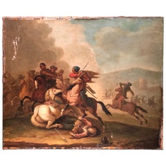17th Century Painting Representative a Battle