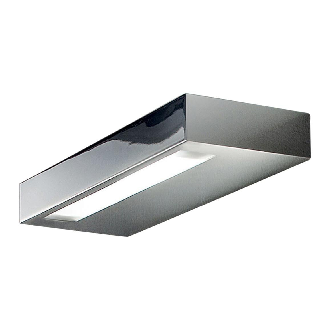 Leucos Alias P 35 LED Sconce in Chrome by Design Works Studio Tonetto & Lazzari