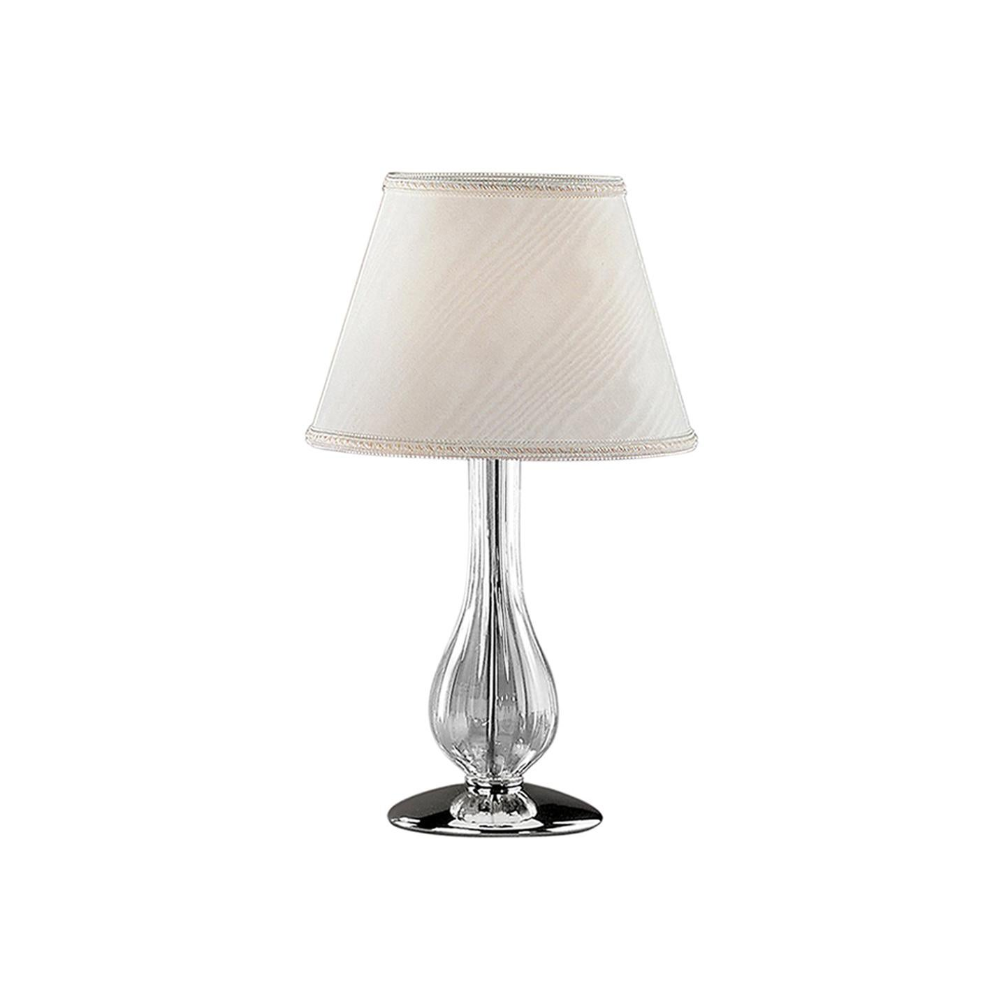 Leucos Cheope T 42 Table Light in Transparent & Chrome by Design Lab