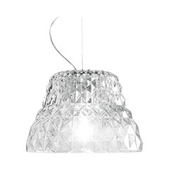 Leucos Atelier S Pendant Light in Crystal and Chrome by Archirivolto