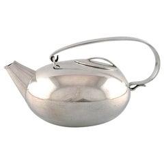 Lino Sabattini for Christofle, Modernist Teapot, 1960s