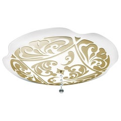 Leucos Charme P-PL 35 Flush Mount in White and Gold by MariToscano