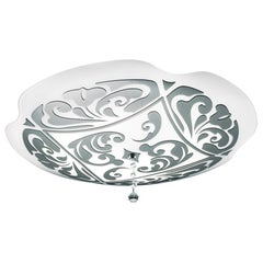 Leucos Charme P-PL 35 Flush Mount in White and Platinum by Marina Toscano
