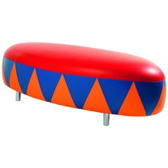 Pouf Eco-Leather Polychrome Design by Anna Gili Milan pouf made in Italy