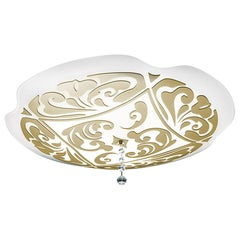 Leucos Charme P-PL 50 Flush Mount in White and Gold by Marina Toscano