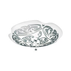 Leucos Charme P-PL 50 Flush Mount in White and Platinum by Marina Toscano