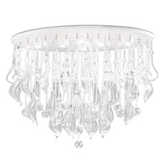 Leucos Elysee PL 100 Ceiling Light in Crystal and White by Mari Toscano