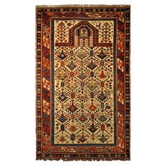 Antique Caucas Daghestan Hand Knotted Wool Rug, circa 1880