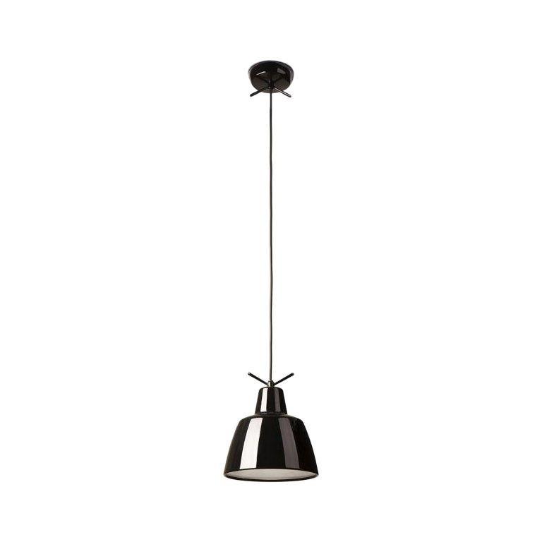 Leucos Clochef S LED Pendant Light in Glossy Black by Massimo Iosa Ghini