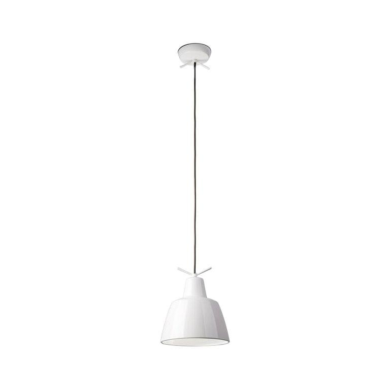 Leucos Clochef S LED Pendant Light in Glossy White by Massimo Iosa Ghini
