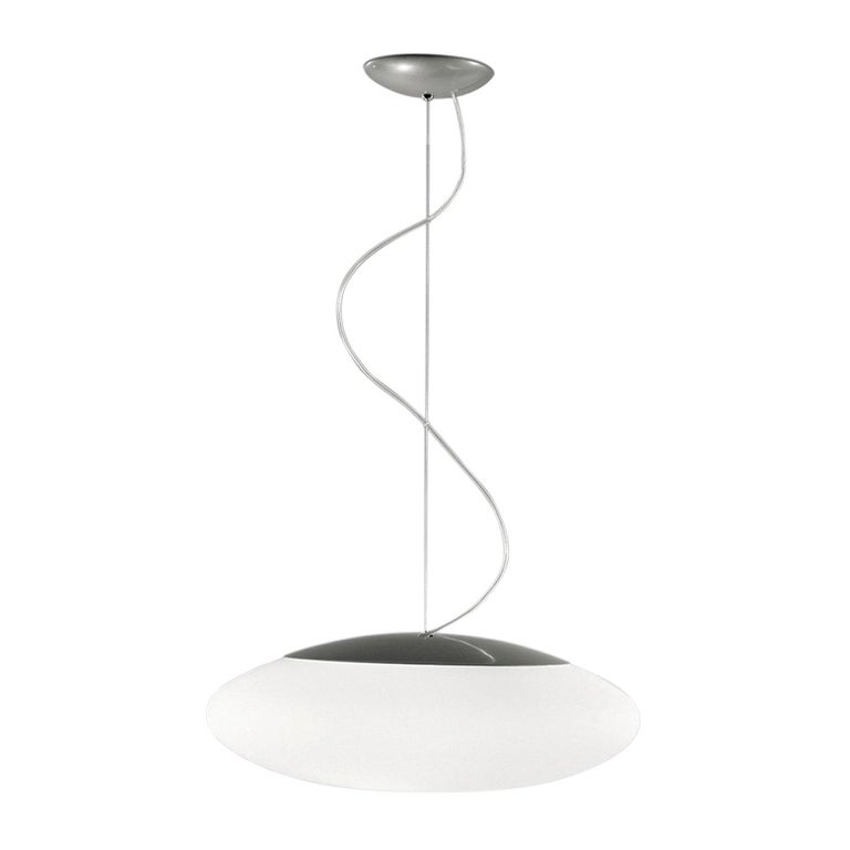 Leucos Felix S 55 Pendant Light in Satin White and Gray by Design Lab For Sale