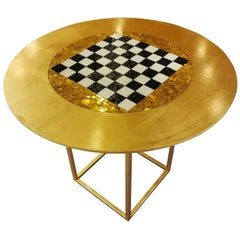 Gold Chessboard Table