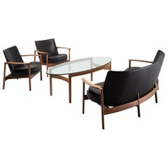 Rare Seating Group with Coffee Table, Ib Kofod-Larsen