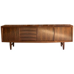 Gunni Omann Long Rosewood Sideboard Credenza for Axel Christiansen Odder Danish