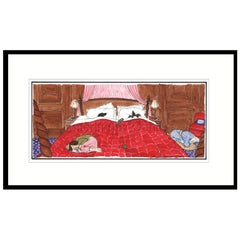 Dogs in the Bed, Humorous Dog Print