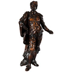 Superb 19th Century Victorian Carved Oak Figure of Sir Anthony Van Dyck