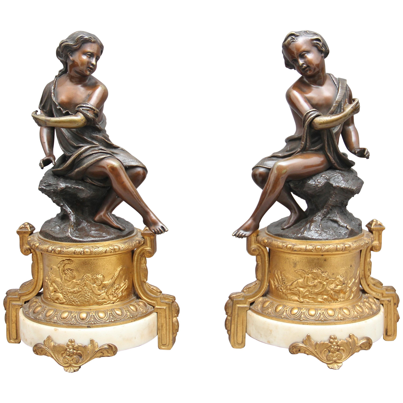 Pair of 19th Century French Bronzes