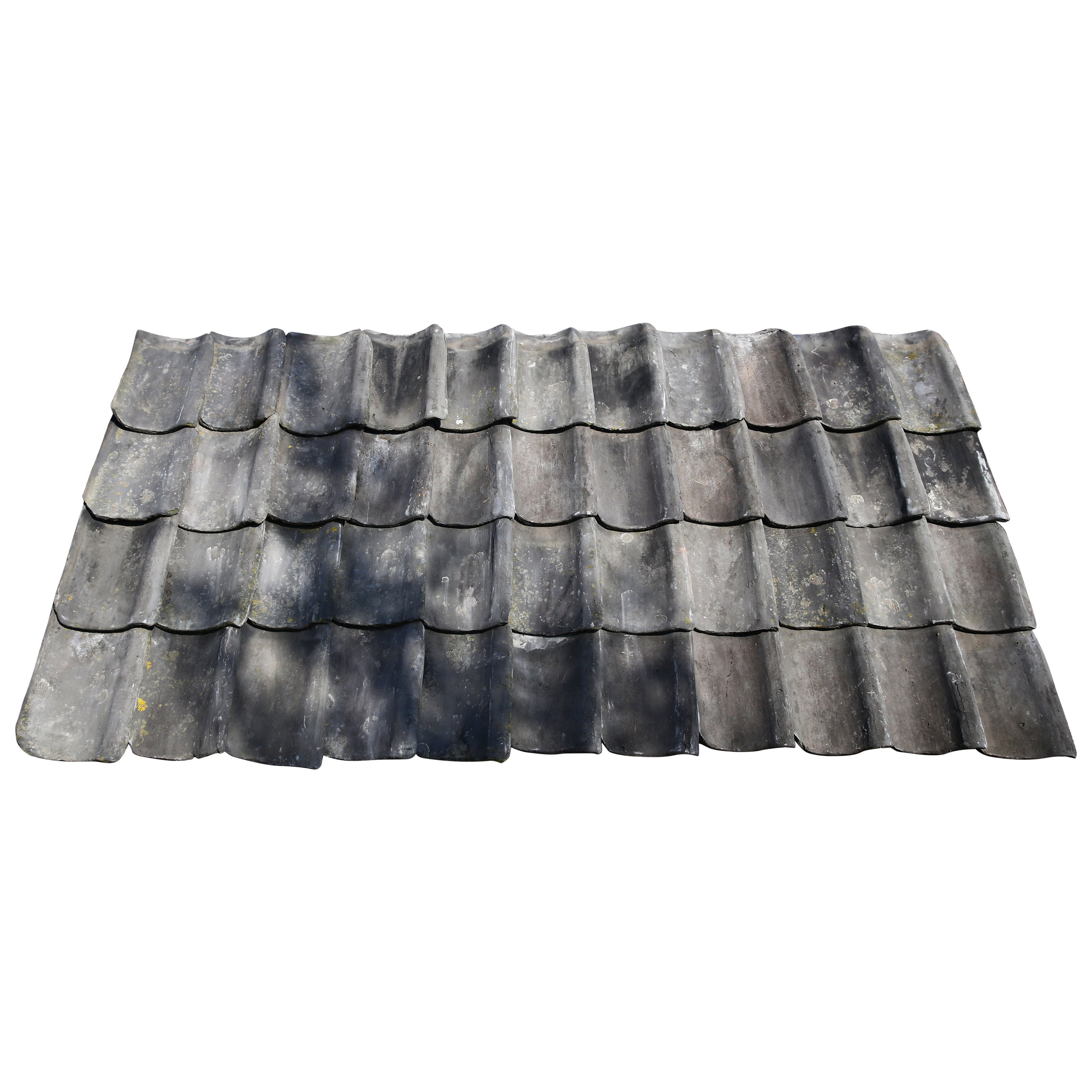 Old Blue Braised Roof Tiles Called 'Oude Holle'