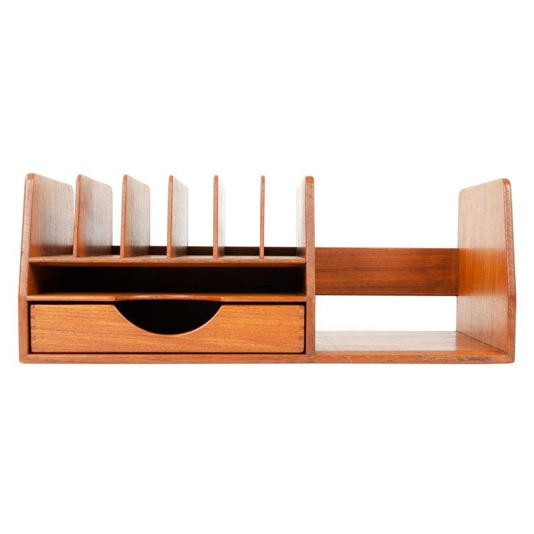 1950s Danish Teak Desk Organizer by Hans J. Wegner for Johannes Hansen For Sale