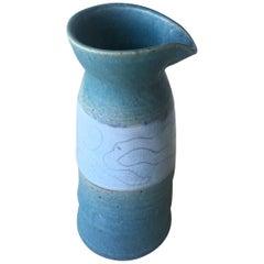 American Midcentury Studio Pottery Vase, Signed
