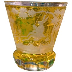 Country Style Crystal Vase Easter Decor Yellow Glass Sofina Boutique Kitzbuehel