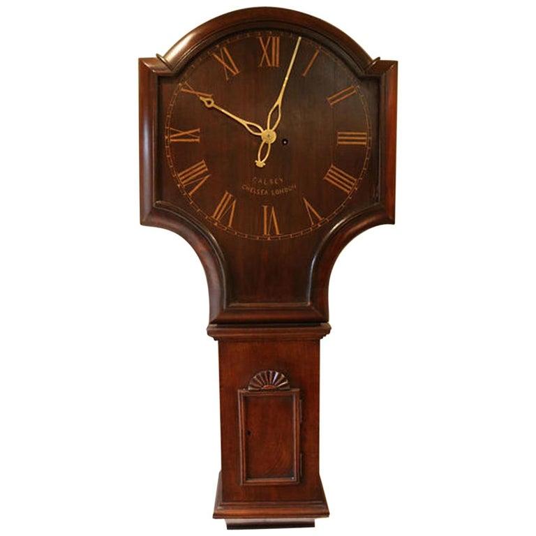 Mahogany Tavern Wall Clock For Sale