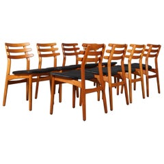 Set of Eight Danish Vintage Dining Chairs by Poul Volther for FDB, Model J48